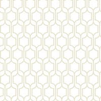 York Wallcoverings KB8647 Trellis Wallpaper - Sand/White