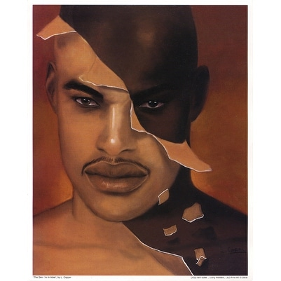 ''The Skin I'm In: Male (mini)'' by Laurie Cooper African American Art Print (10 x 8 in.)