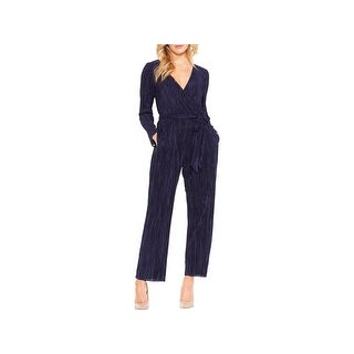 Vince Camuto Womens Jumpsuit Pleated Surplice - xL