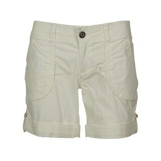 INC International Concepts Women's Cotton Blend Buttoned Shorts - 14