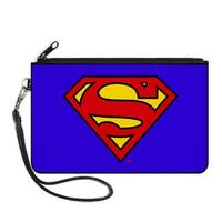 Superman Blue Canvas Zipper Wallet