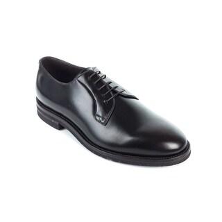Brunello Cucinelli Men's Dark Brown Leather Derby Oxfords