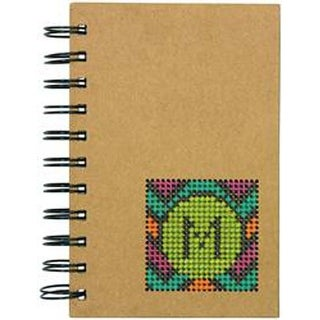 """4""""X6"""" 50 Pages - Monogram Small Journal Punched For Cross Stitch"""