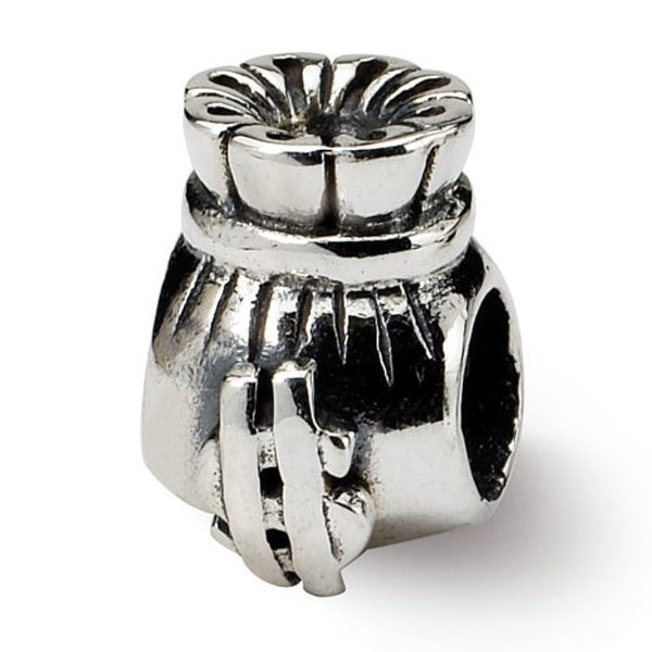 Sterling Silver Reflections Money Bag Bead (4mm Diameter Hole)