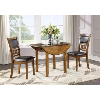 """Link to Gia 42"""" Dining  Drop Leaf Table W/2 Chairs-brown Similar Items in Dining Room & Bar Furniture"""