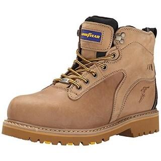 Goodyear Mens Darlington Leather Slip Resistant Work Boots - 8 medium (d)