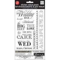 Black & White Wedding - Glitter Stickers Value Pack
