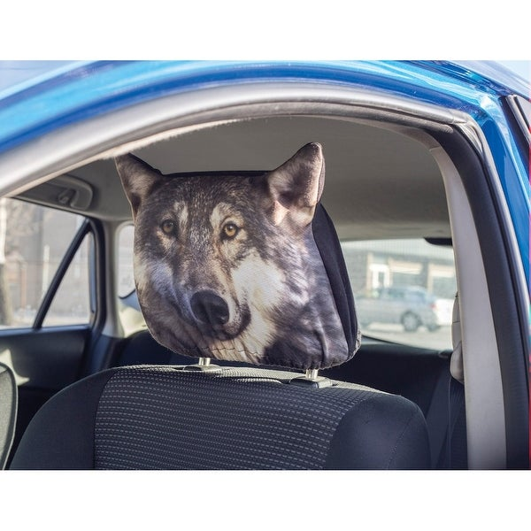 "Wolf Car Headrest Covers - 11"" x 10"""