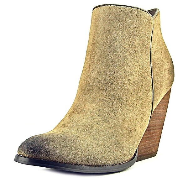 Very Volatile Gloss Round Toe Suede Bootie