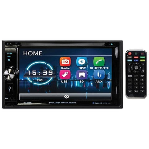 """Power Acoustik 6.2"""" Double Din Receiver with Bluetooth & Detachable Faceplate w/Padded Carry Case - 6.5 800*480"""