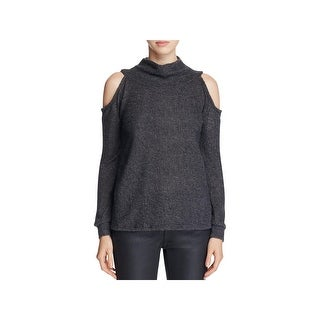 Elan Womens Pullover Sweater Fleecce Funnel Nck