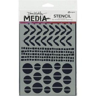 """Dina Wakley Media Stencils 9""""X6""""-Mini Favorites"""