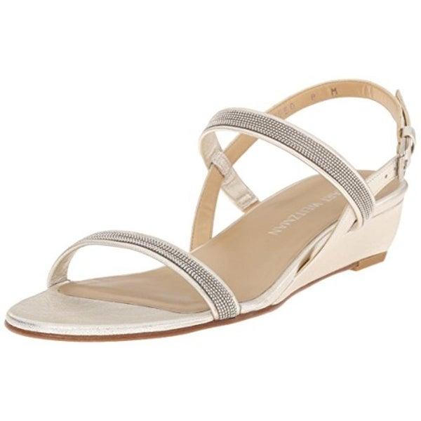Stuart Weitzman Womens Inchains Dress Sandals Leather Beaded - 8.5 medium  (b 6c6ca9d1fe30