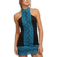 Free People Womens Mini Dress Lace Sheath