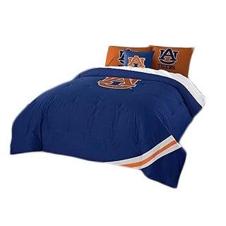 Auburn University Tigers 7 Piece Full Size Comforter Set - Blue