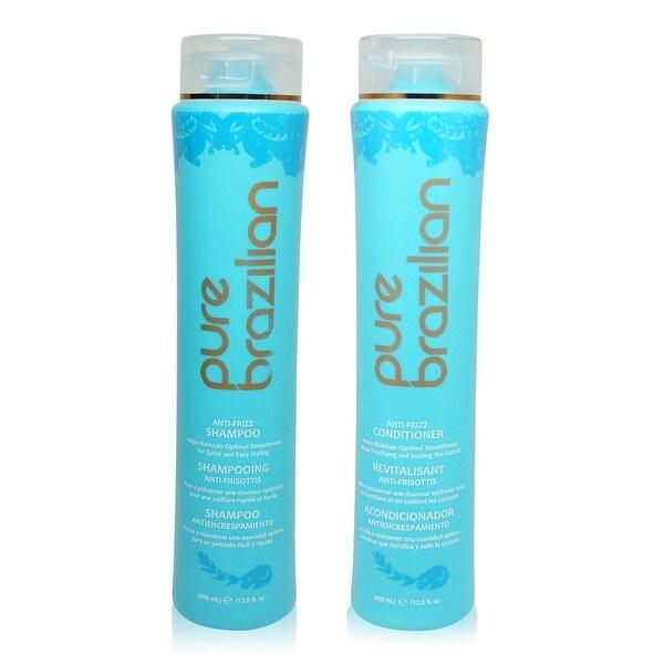 pure brazilian Anti-Frizz Shampoo & Conditioner 13.5 oz Combo Pack