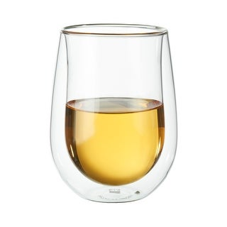 ZWILLING Sorrento 2-pc Double-Wall Stemless White Wine Glass Set