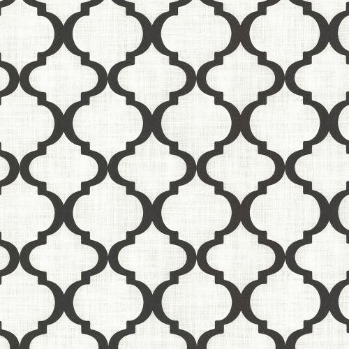 Brewster 2618-21351 Palace Black Quatrefoil Wallpaper