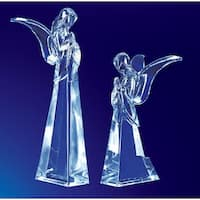 Pack of 4 Icy Crystal Religious Christmas Butterfly Angel Figurines 7.5""
