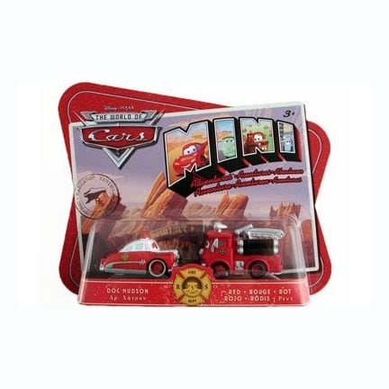 Disney Pixar Cars Mini Adventures Fire Dept 2 Pack Doc Hudson & Red - Multi