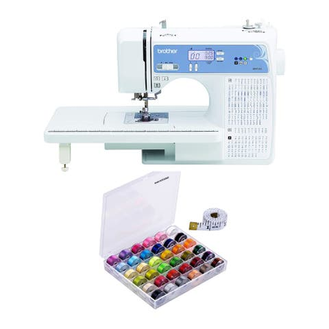 Brother XR9550 Sewing and Quilting Machine (White) with Bobbins Bundle