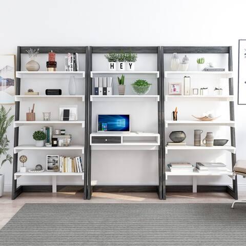 Furniture of America Liri Contemporary 3-Piece Office Set