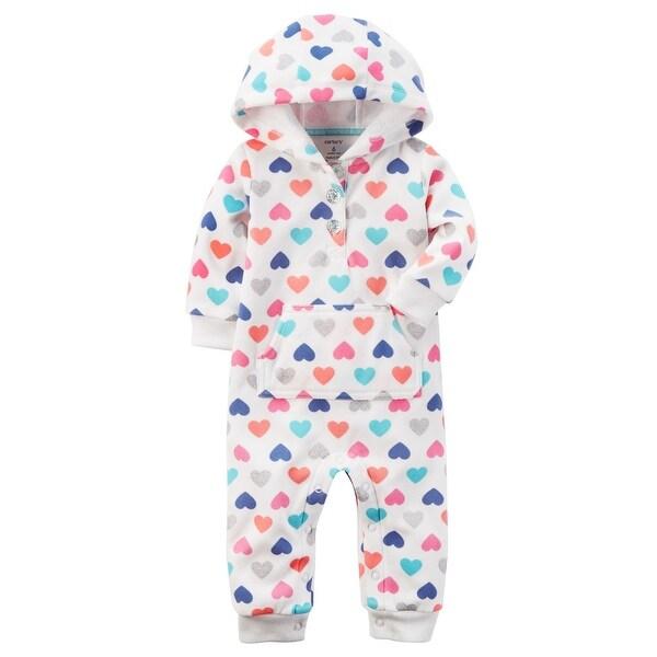 9d4c8907097 Shop Carter s Baby Hooded Fleece Jumpsuit