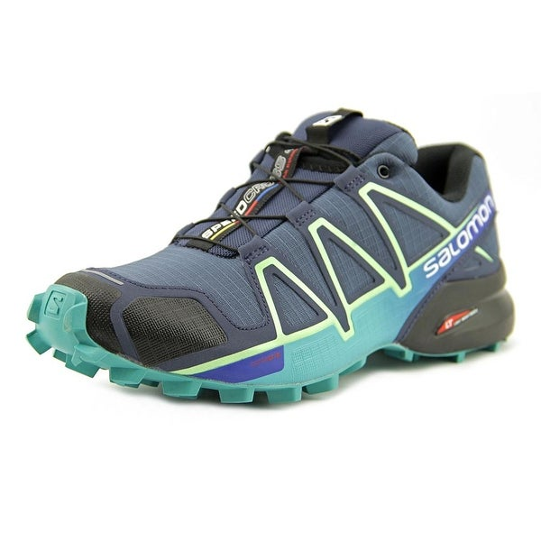 huge discount 96fb6 6d3e5 Shop Salomon Speedcross 4 Women Round Toe Synthetic Blue ...