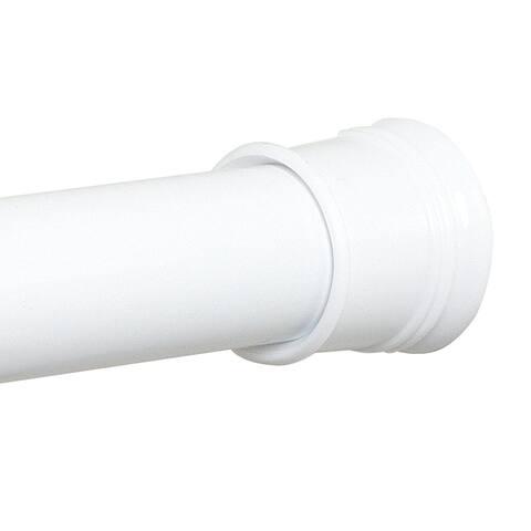 "Zenith 608W Adjustable Tension Shower Curtain Rod, White, 40""-60"""