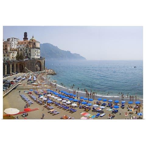 """""""Houses on the sea coast, Amalfi Coast, Atrani, Salerno, Campania, Italy"""" Poster Print"""