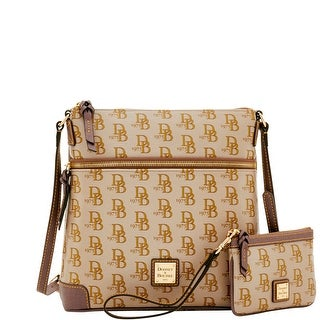 Dooney & Bourke 1975 DB Signature Crossbody & Med Wristlet (Introduced by Dooney & Bourke at $248 in Feb 2017) - elephant