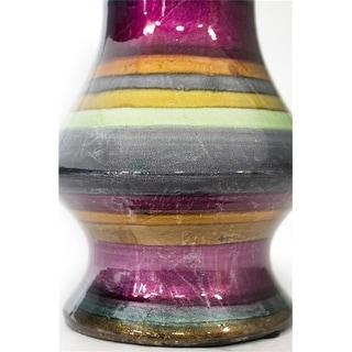Heather Ann Creations W137412-B75 Stripes 20 in. Ceramic Floor Vase - Multi-Color