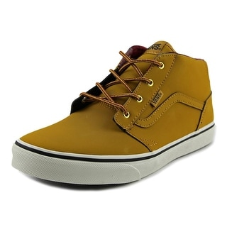 Vans Chapman Mid Youth Round Toe Leather Tan Skate Shoe
