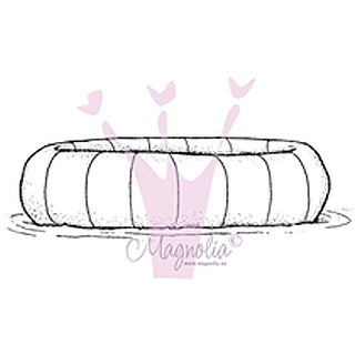 "Lazy Summer Days Cling Stamp 6.5""X3.5"" Package-Bathing Ring"