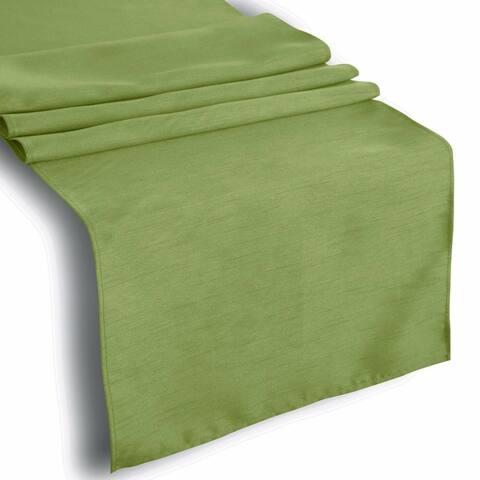 "Faux Silk Table Runner Green - 13"" x ""72"