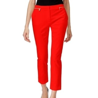 Calvin Klein NEW Tango Red Gold Women's Size 8X27 Ankle Crop Pants