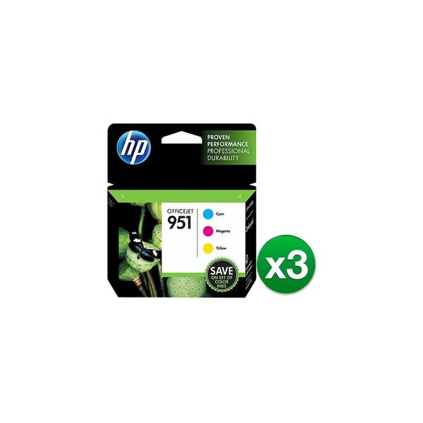 Hewlett Packard CR314FN#140 (3-Pack) HP 951 Ink Cartridge - Cyan, Magenta, Yellow - Inkjet - Standar