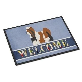 Carolines Treasures BB8308JMAT Biewer Terrier Welcome Indoor or Outdoor Mat - 24 x 36 in.
