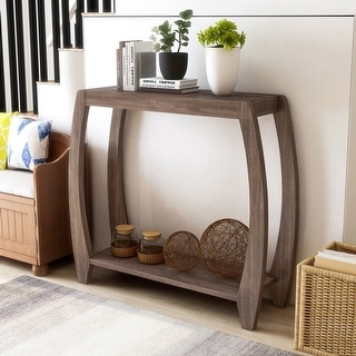 Link to Furniture of America Clift Transitional 2-shelf Console Table Similar Items in Living Room Furniture