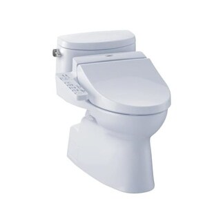 Toto CST644CEFGT20 Carolina II Elongated Toilet with 1.28 GPF - Less Seat