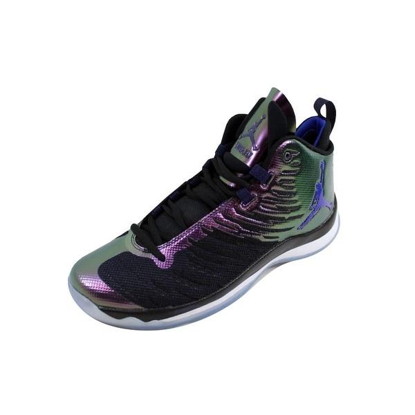 3d701dfffb9c Shop Nike Men s Air Jordan Super Fly 5 Black Concord-White 844677 ...