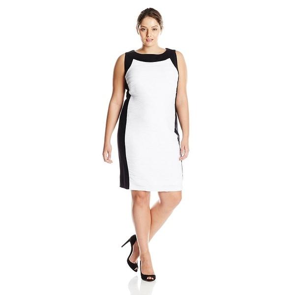 Shop Calvin Klein Plus Size Sleeveless Colorblock Sheath ...