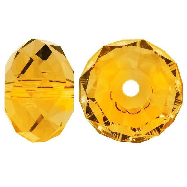 Swarovski Elements Crystal, 5040 Rondelle Beads 6mm, 10 Pieces, Sunflower