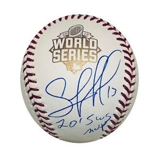 Salvador Perez Kansas City Royals Autographed 2015 World Series MVP Authentic Signed Baseball JSA C