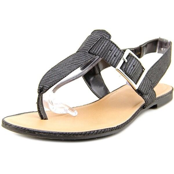 Style & Co Rachael Women Open Toe Synthetic Black Thong Sandal
