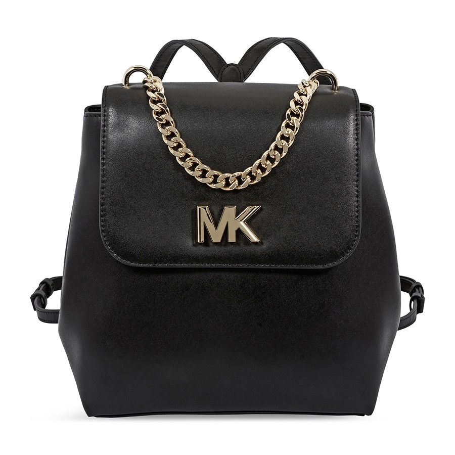 MICHAEL Michael Kors Mott Leather Black Backpack