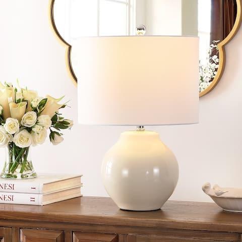 "SAFAVIEH Lighting 21.5-inch Zaid Resin Table Lamp - 14"" x 14"" x 21.5"""