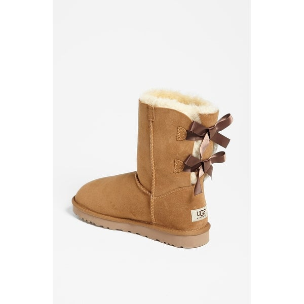 3a8f3a059f3 Shop Ugg Womens Bailey Bow Leather Closed Toe Mid-Calf Cold Weather ...