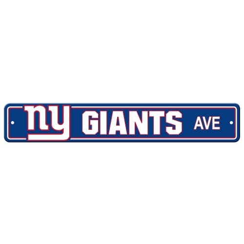 FREMONT DIE Inc New York Giants Plastic Street Sign Plastic Street Sign