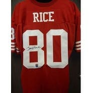 Signed Rice Jerry San Francisco 49ers Custom San Francisco 49ers Jersey autographed
